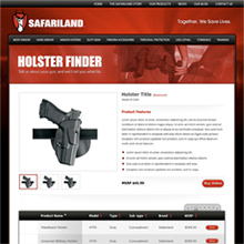 BAE Safariland Holster Finder Subpage